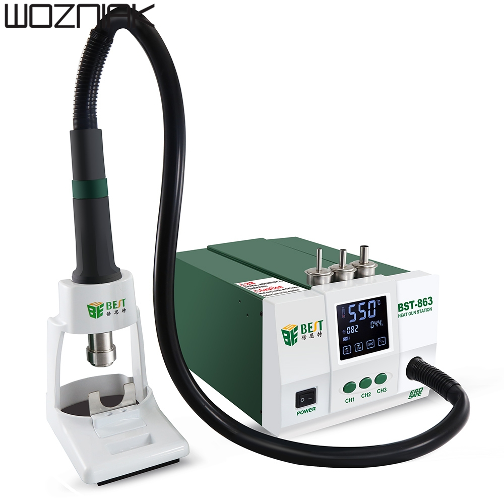 Lead free Hot Air Rework Station Soldering Touch Screen LCD 1200W 220V For Phone CPU PCB better than QUICK 861DW