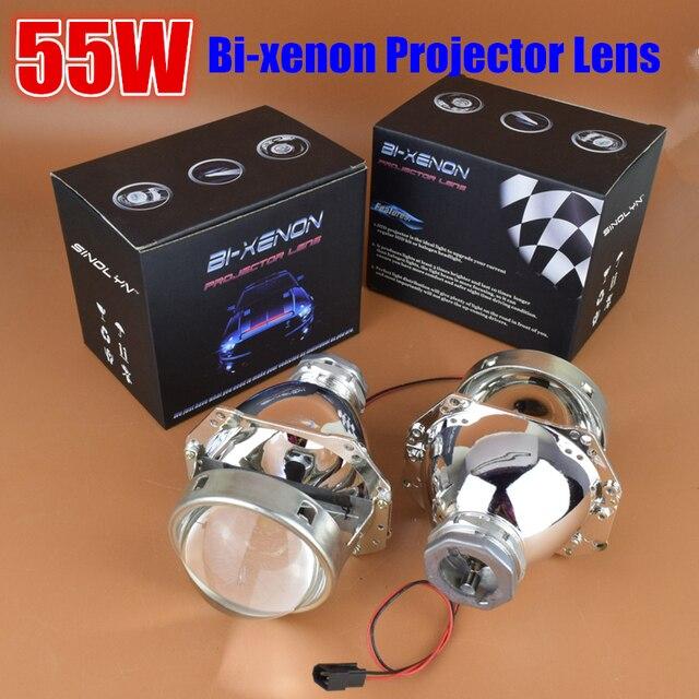 SINOLYN 3.0 polegada 35 W 55 W HID Bixenon Lente Do Projetor Do Farol Retrofit Lâmpada de Lentes, Use D2S D2H Lâmpadas Super Bright Car Styling