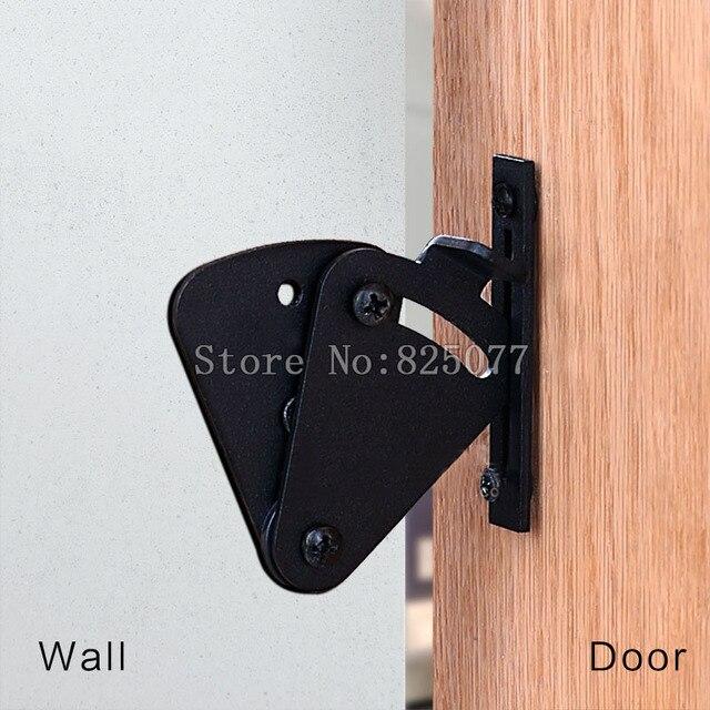 1 pcs nouveau style noir pull porte coulissante grange porte porte serrure porte en bois loquet. Black Bedroom Furniture Sets. Home Design Ideas