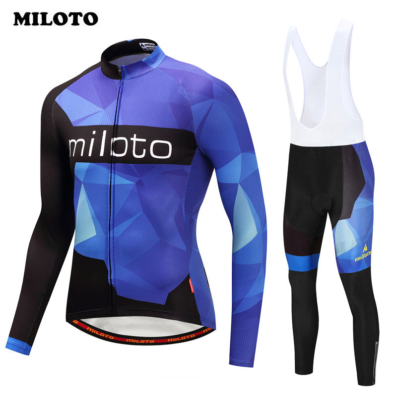 Miloto 2018 pro team Bike Jersey Set Long Sleeve Autumn Cycling Jersey Set Ropa Ciclismo Road mtb Bicycle Wear Cycling Clothing xintown team mens cycling long sleeve jersey bib pants suit red clothing set ropa ciclismo mtb bike bicycle s 4xl