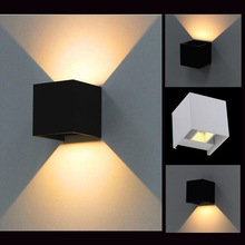 White / Black up&down 6W Led outdoor wall lamp IP65 waterproof Adjustable Surface Mounted indoor & Outdoor Cube Led wall lights