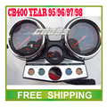 CB400 odometer 95 96 97 98 year motorcycle speedometer led speedo meter instrument  Free Shipping