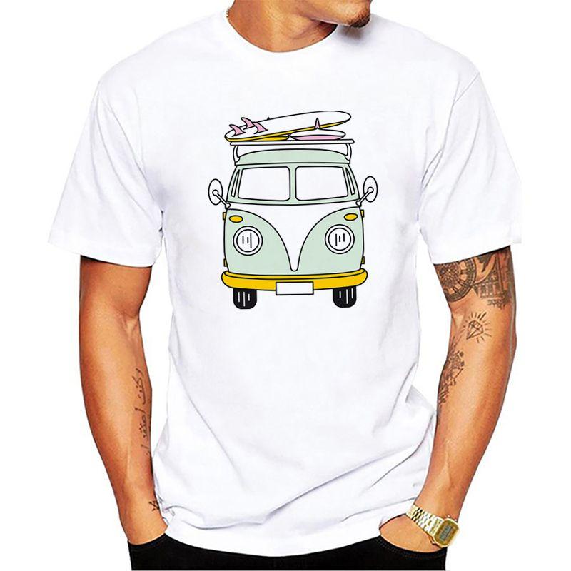 Van Summer Funny Fashion Men's T Shirt Short Sleeve 100% Cotton Cool Designer For Boys Tops