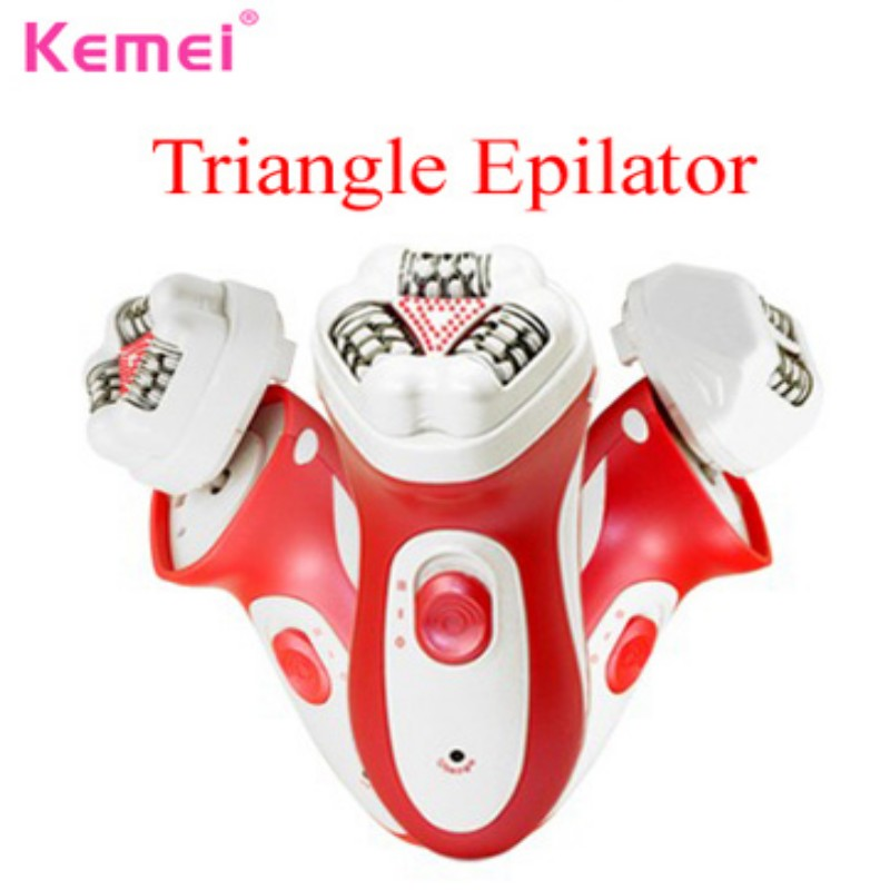 KEMEI Wet and Dry Cordless Electric Hair Removal Neoteric Design Epilator Female Shaving Machines for Women Body Bikini Razor ...