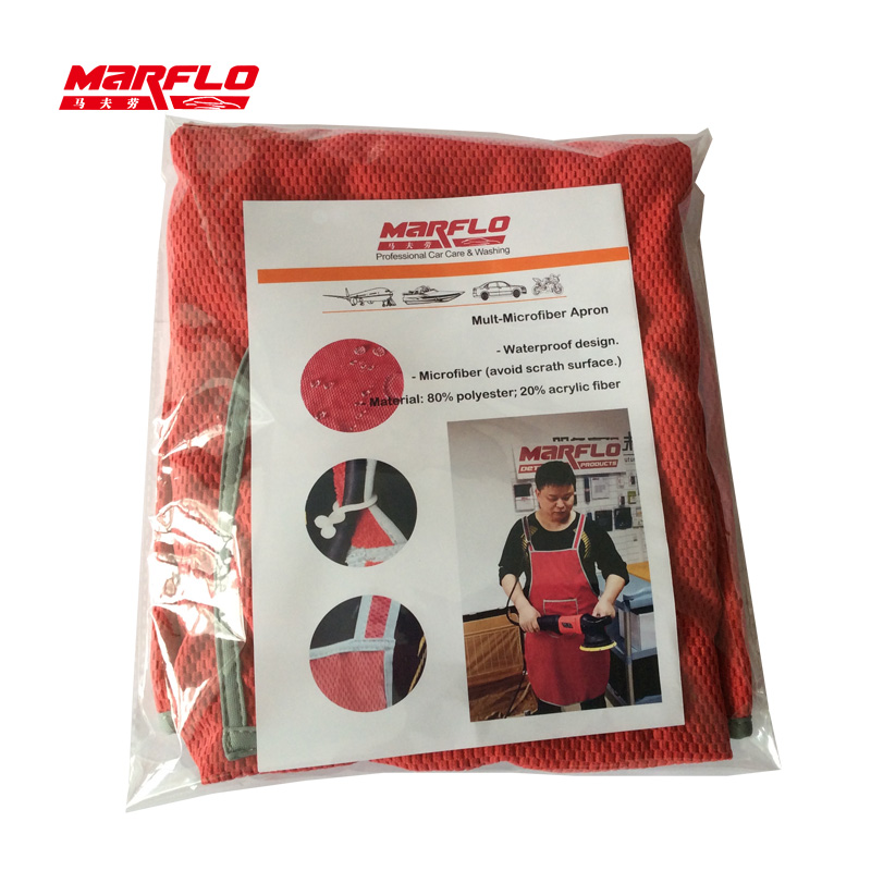 MARFLO Car Wash Care Microfiber Apron Waterproof Professional Detail Auto Cleaning Apron Accpet Customable Brilliatech