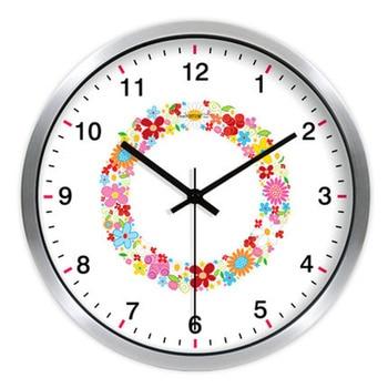 Romantic Colorful Wall Art Clock Cat Silent Digital Large Clock  Metal Wand Calamite Mural Big Wall Watches Home Decor 50ZB0184