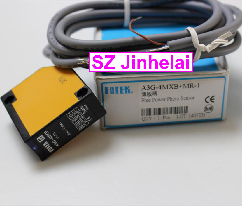 100% New and original FOTEK Photoelectric switch A3G-4MXB+MR-1 Free Power Photo Sensor su 07x original fotek photoelectric switch u type sensor new warranty for one year