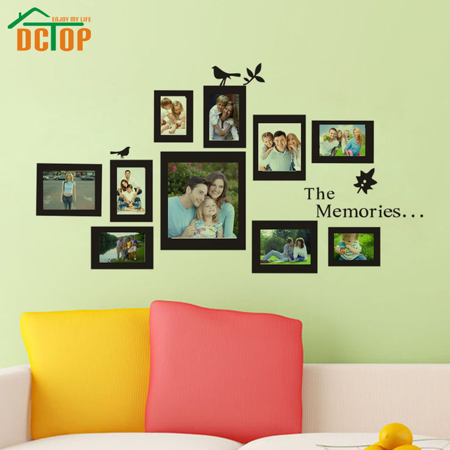 Aliexpresscom Buy DCTOP Photo Frame Wall Decals Removable