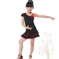 Free Shipping Latin Dance Skirt Female Child Clothes Child Dance Leotard Costume Nagle Latin Dance Clothes