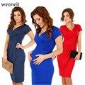 Weoneit 2017 Новый V-образным Вырезом Материнства Dress Одежда Лето Premama Одежда Для Беременных Одежда для Беременных Для Беременных Платья