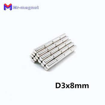 2000 pièces 3x8mm néodyme aimant N35 3*8 D3x8 petit rond Mini fort Super puissant magnétique aimants disque pour artisanat 3x8 Dia3x8