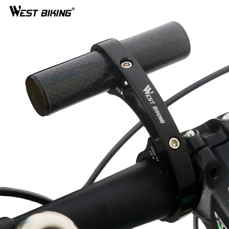 WEST BIKING Bike Handlebar Extender Bicycle Light Bell Computer Handle Ba Mount Carbon Fiber Alloy Bicycle Handle Bar Extender mr northjoe front