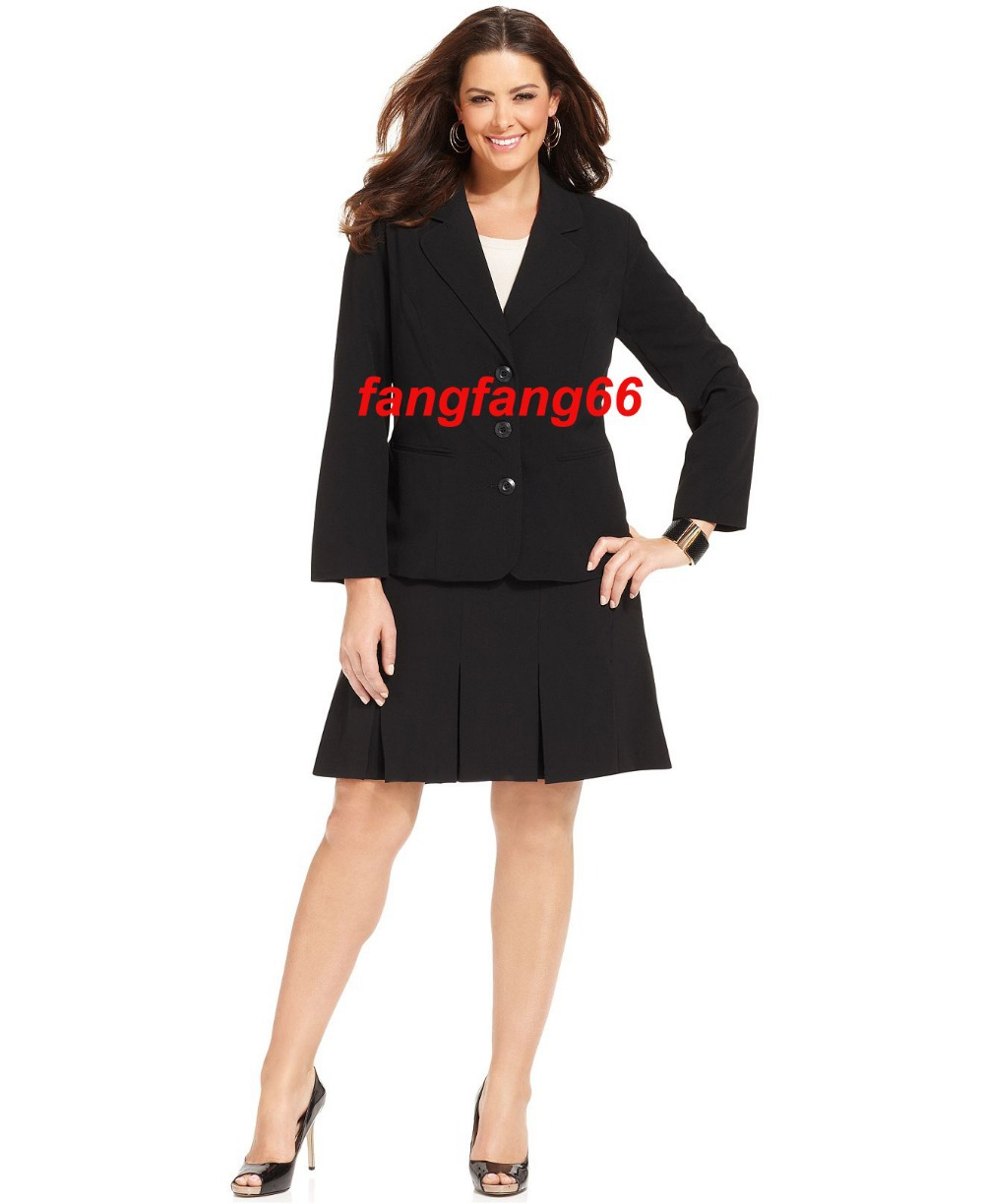 Aliexpress.com : Buy Plus Size Black Stretch Suiting Three Button ...