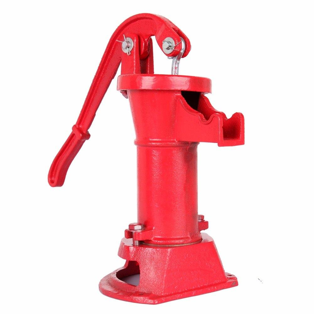 (Ship from EU) Hand Water Well Pump Pitcher Cast Iron Press Suction Outdoor Yard 25 Ft Lift