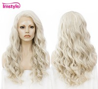 Imstyle Wavy Synthetic Honey Ash Blonde 24 Lace Front Wig