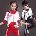 2016 primavera nova queda e roupas de inverno meninas vestuário desportivo terno roupa dos miúdos das crianças casaco crianças camisola peça