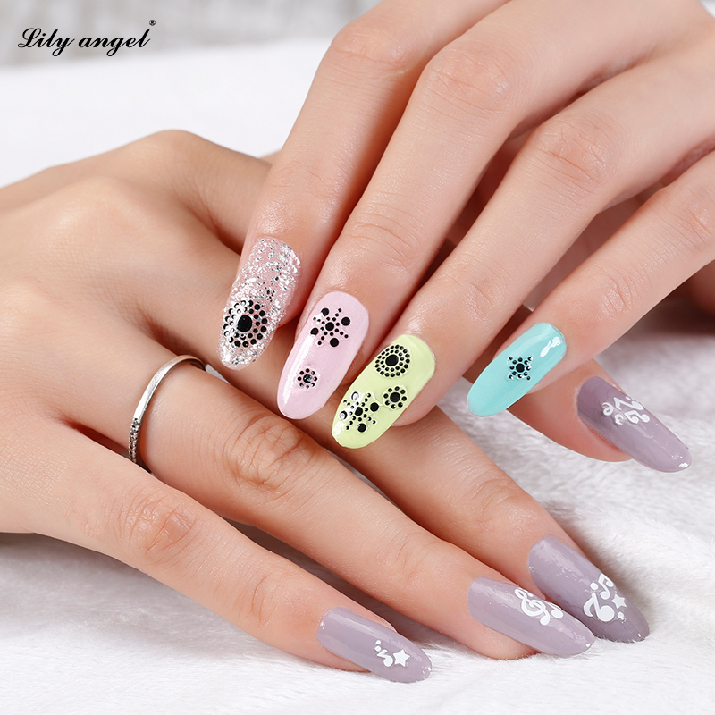 Lily Angel 3pcs Nail Art 3d Star Note Water Transfer Sticker Polish Watermark Decals Manicure Wraps