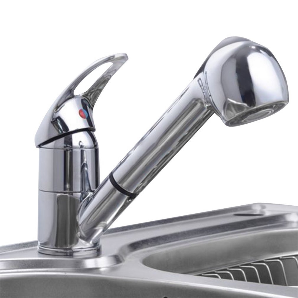 Portable Hot Cold Water Tap Extensible Mixer Tap Copper Single Type Faucet Kitchen Sink Faucets Kitchen Accessories