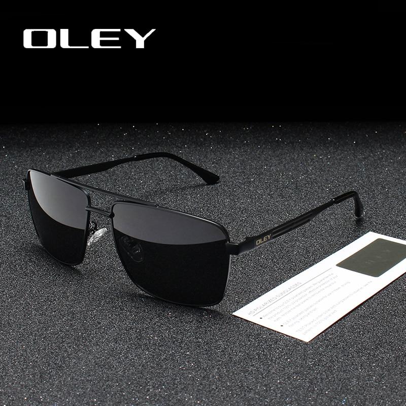 33936fb9e3 Gafas de sol polarizadas de marca OLEY para hombres, gafas cuadradas  clásicas para mujeres, Oculos, masculino, logotipo personalizable Y1923
