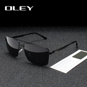 Мужские и женские классические очки OLEY, черные солнцезащитные очки в квадратной оправе с поляризационными линзами, модель Y1923, 2019