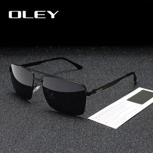 OLEY Brand Polarized Sunglasses Men Fashion Classic Square glasses For Women Oculos masculino Male Customizable logo Y1923(China)