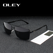 OLEY Brand Polarized Sunglasses Men Fashion Classic Square g