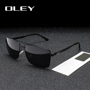 eed7a99c8b OLEY marca gafas de sol polarizadas de los hombres de moda clásico cuadrado gafas  para mujeres