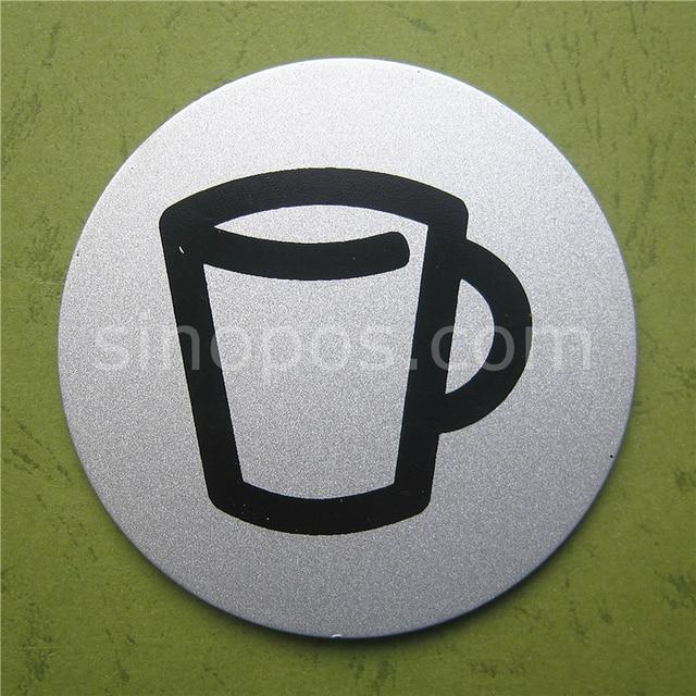 Pantry Room Door Sign Alumimum Metal Tearoom Break Area Watercooler Symbol Mark Office Sticker
