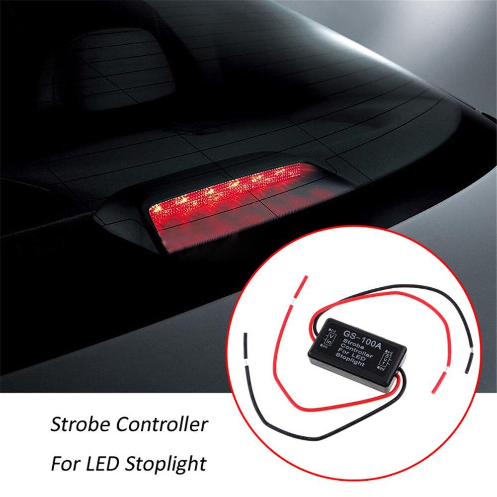 GS-100A à prova d 'água LED Brake Stop Light Lâmpada Flash Strobe - Faróis do carro - Foto 5