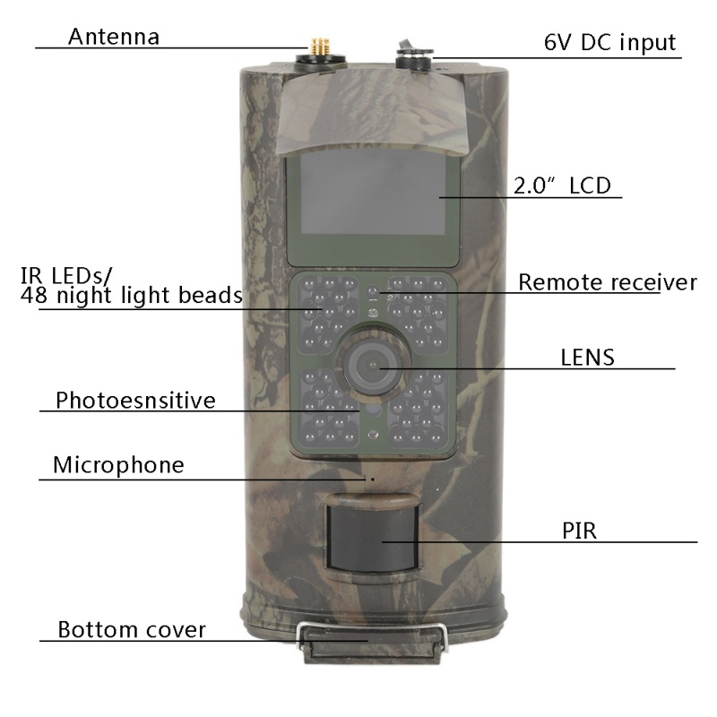 Hunting Camera Wide Lens Portable Wildlife Digital Infrared Scouting Trail Camera Hunting Camera Wide Lens Portable Wildlife Digital Infrared Scouting Trail Camera