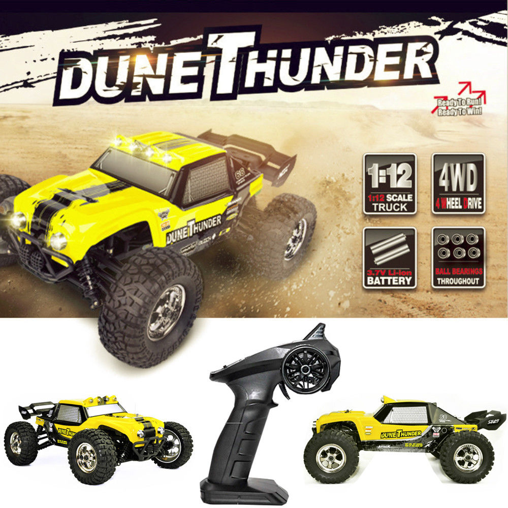 HBX 12891 2.4 ghz RC Auto 1/12 4WD Impermeabile Buggy Sabbia Ferroviario Camion RC Desert Truck RTR 40 km/h