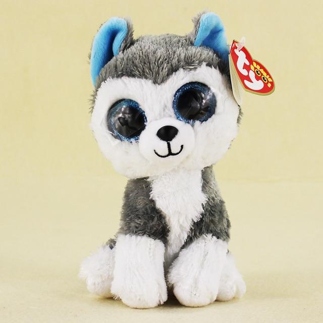 15cm Ty Beanie Boos Big Eyes Husky Dog Plush Toy Doll Stuffed Animal