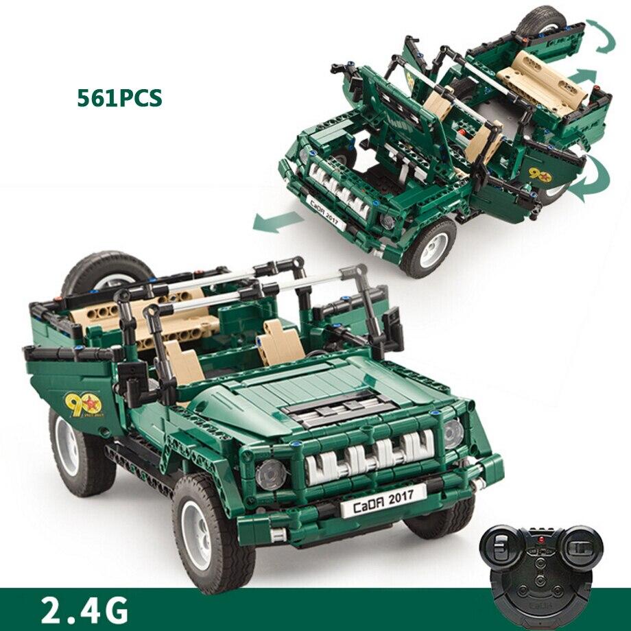 Techincs Moderne Militaire Voertuig 2.4 Ghz Rc Speelgoed Stapelen Blok Radio Afstandsbediening Auto Parade Jeep Legoeinglys Baksteen Collectie Goederen Van Hoge Kwaliteit