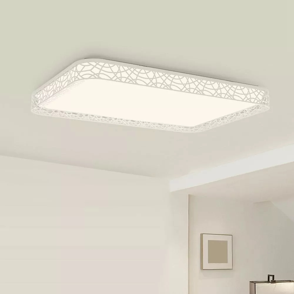 Image 3 - Yeelight YILAI YlXD07Yl 110W Rectangle Style Hollow LED Ceiling Light Pro 220 240V For home APP Remote Night LightCeiling Lights   -