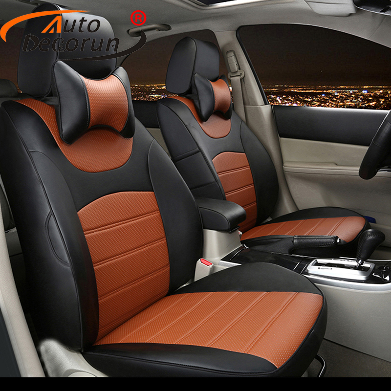 AutoDecorun Custom cover seat PU leather for Renault Kadjar 2017 2016 seat cover cars accessories seat cushion support 16PCS/set