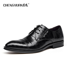 Men genuine leather flat business wedding shoes fashion mens metel brown black brogue business casual party gentleman shoes