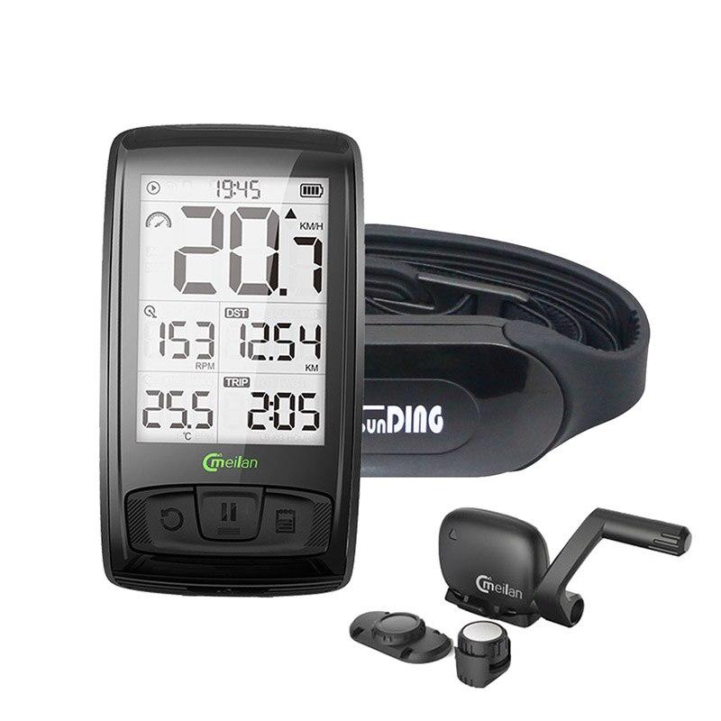 Tachometer Wireless Bicycle Computer Speed Cadence Bike Sensor Meilan M4 Bluetooth4.0 Sports Wireless Heart Rate Monitor Sunding sunding bluetooth 4 0 waterproof wireless combo cadence sensor