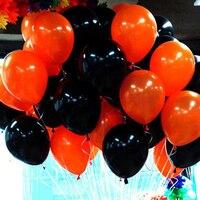 100ชิ้นลูกโป่งสีส้มและสีดำลูกโป่งน้ำยางInfatableสำหรับการตกแต่งงานแต่งงานพรรคลูกโป่งของขวัญคร...