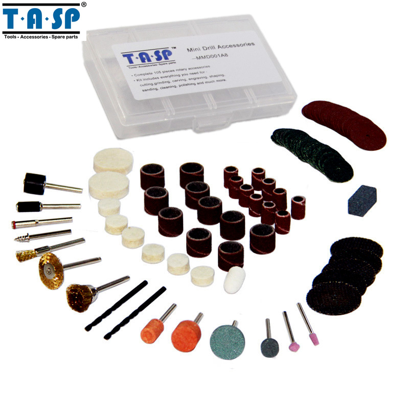 TASP 105PC Dremel Accessories Rotary font b Tool b font Bit Set Mini Drill Acessorios with