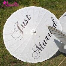 Китайское традиционное рукоделие ручной работы рисовая бумага зонтик Свадебный только что женатый печати бумажный зонтик вечерние подарки