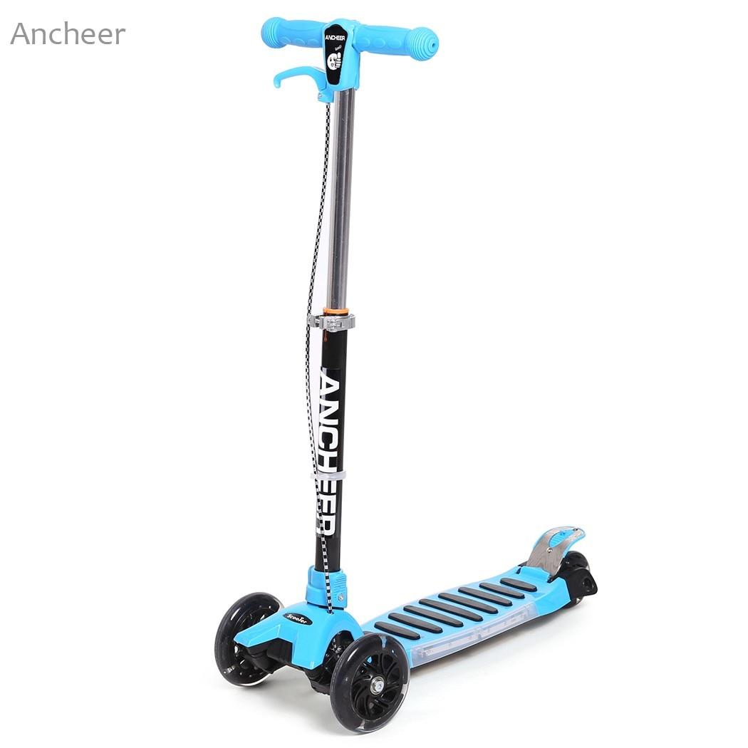 Новый самокат доски алюминиевого сплава регулируемый скейтборд Детский мини 3 колеса слайдер движения Дрифтера долго Движущую самокат