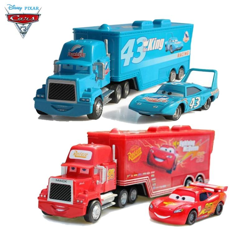Disney Pixar Cars McQueenes Metal Pixar Cars Truck Mc Queen Diecast 1:55 Metal Toy Car Model Children Toy Action Figures Pixar logan pixar 1 w белый