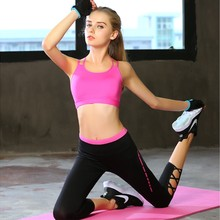 Women Yoga Sets Fitness Comfortable Tracksuit Double Shoulder Strap Sports Tights Vest Tank Top Leggings Gym clothing Two Piece(China)