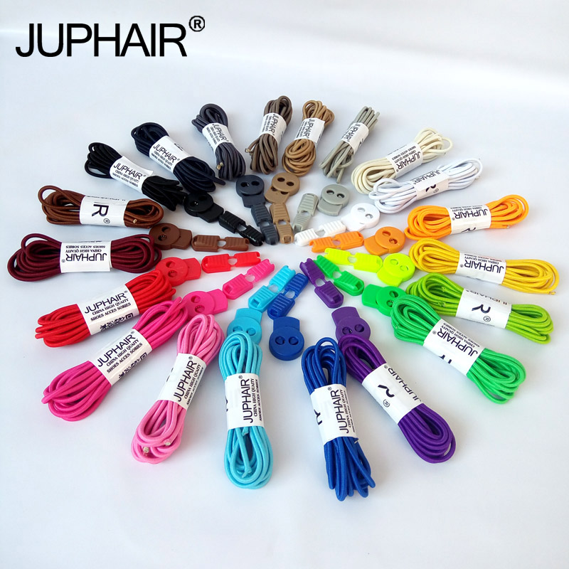 JUP50 Pairs 1 m Round Colored Shoes Laces for Children Fashion Elastic Rubber Adjustable Shoelaces Fashion Lazy Shoelaces String цена