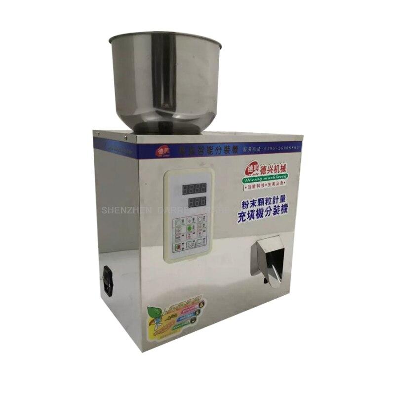 1vnt 5-100g arbatos pakavimo mašina grūdų užpildymo mašina granulės medlar automatinė druskos svėrimo mašina milteliai sėklų užpildo