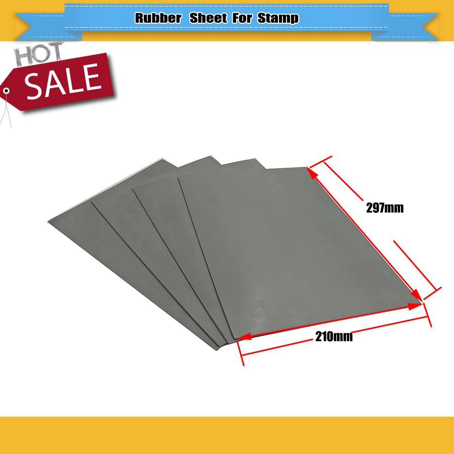 2 Pcs 2.3mm Thickness Grey Sheet Rubber Board For CO2 Laser Engraver Cutting Make