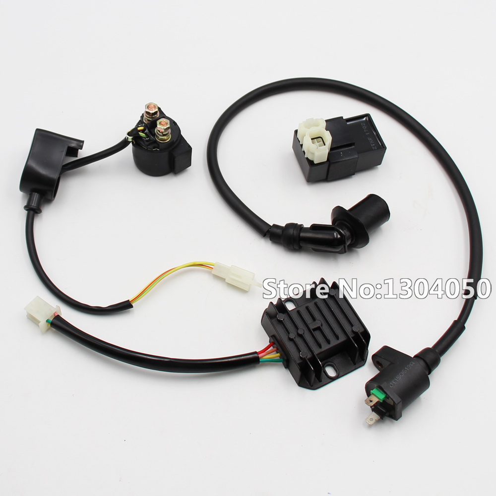 GY6 SOLENOID IGNITION COIL 6 PIN CDI REGULATOR 50cc 150cc 200cc ...