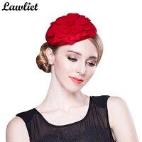 Womens Vintage Fascinator Wool Wedding Hats Ladies Party Headwear Female Classic Hair Pillbox Hats Church Fedora