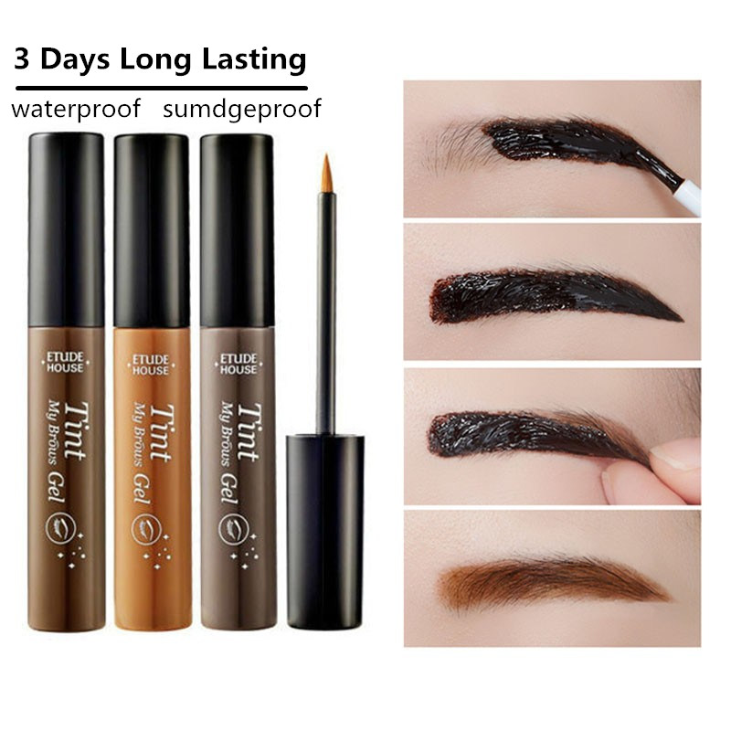Makeup Peel Off Eyebrow Enhancer Brow Gel Dark Brown Gray Black Color Waterproof Eyebrow Tint Gel Makeup