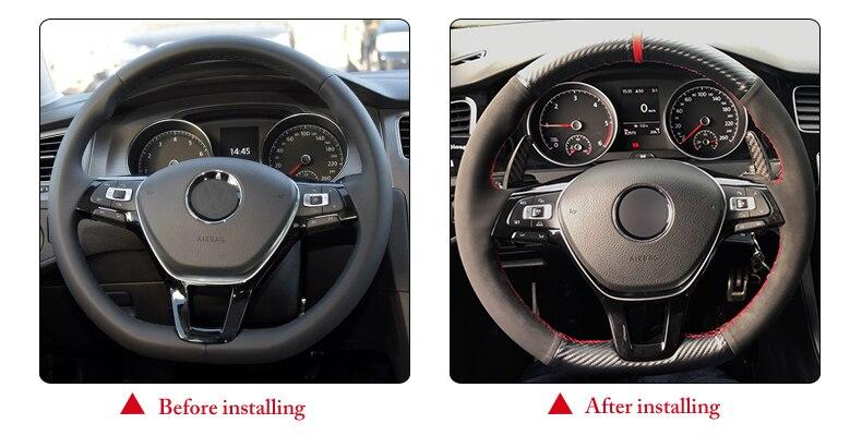 for VW Mk7 steering wheel cover